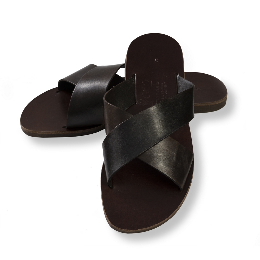 7d50ca708 Men s Sandal - Handmade Greek Sandal - A  Quality Leather 100% - Tan ...